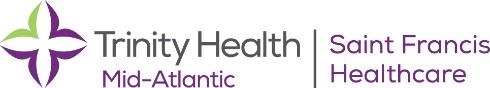 Trinity Health Mid-Atlantic Saint Francis Hospital Sponsor Logo